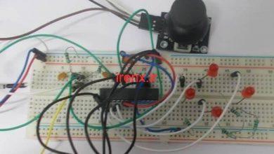 تصویر از پروژه راه اندازی جوی استیک با AVR و اتمل استودیو