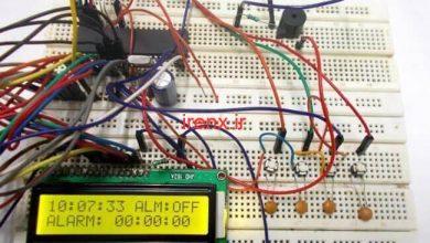 تصویر از پروژه ساعت هشدار با میکروکنترلر AVR و اتمل استودیو