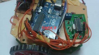 تصویر از پروژه کنترل ربات با موبایل و آردوینو (کنترل ربات از طریق تماس)