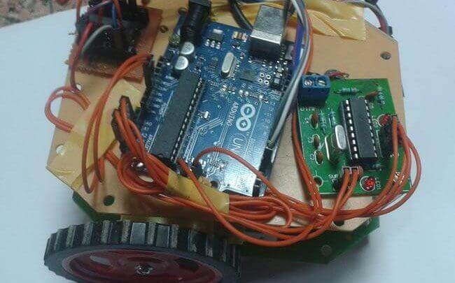پروژه آردوینو کنترل ربات با موبایل
