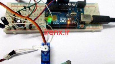 تصویر از کنترل سروو موتور با سنسور نیرو و آردوینو (وزن)