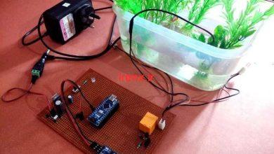 تصویر از پروژه آردوینو رقص نور و پمپ آب با صدای محیط