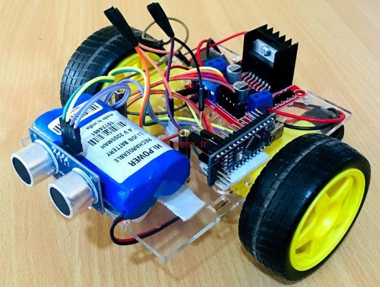 پروژه آردوینو ربات با سنسور التراسونیک