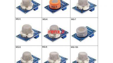 تصویر از دیتاشیت سنسور های MQ (مشخصات حسگر گاز MQ)