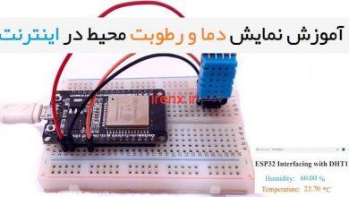 تصویر از آموزش نمایش دما و رطوبت در اینترنت با وای فای ESP32