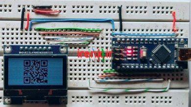 تصویر از ساخت کد QR با برد آردوینو و نمایشگر OLED