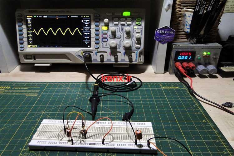 ایجاد موج مثلثی با آپ آمپ LM358