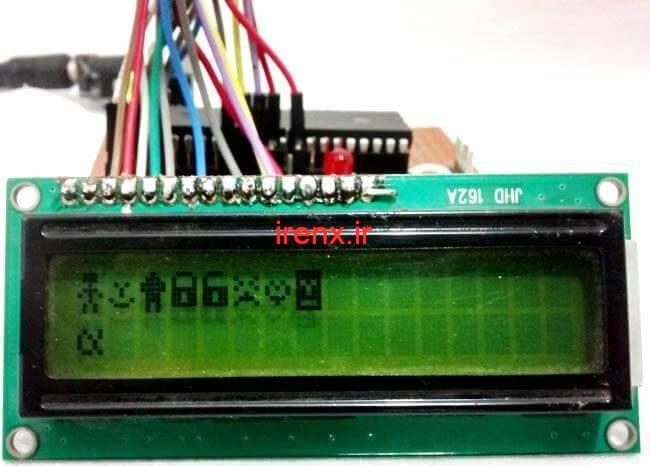 کد کاراکتر های خاص برای نمایش در LCD کاراکتری