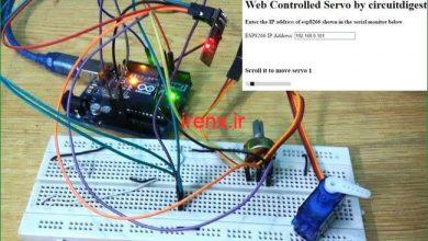 تصویر از پروژه کنترل سروو موتور با اینترنت آردوینو و ماژول وایفای ESP8266
