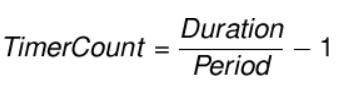 فرمول محاسبه تایمر کانتر