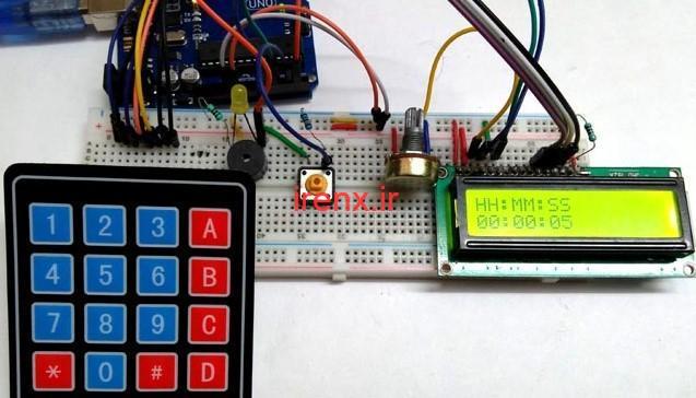 پروژه تایمر معکوس با Arduino