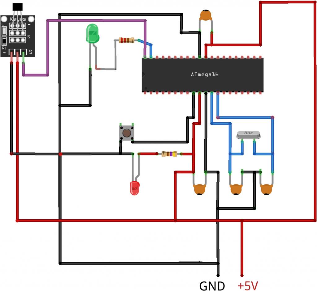مدار اتصال سنسور هال به AVR