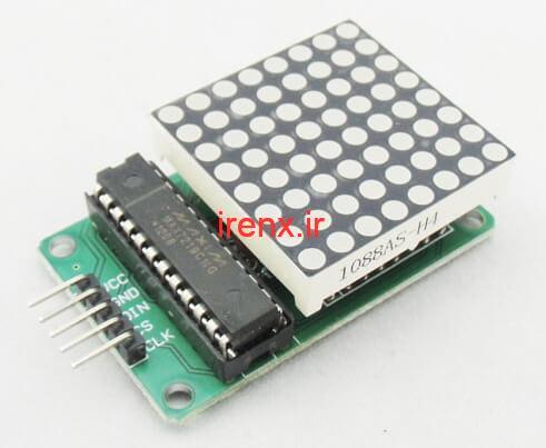 مشخصات ماژول صفحه نمایش LED ماتریسی 8*8 MAX7219