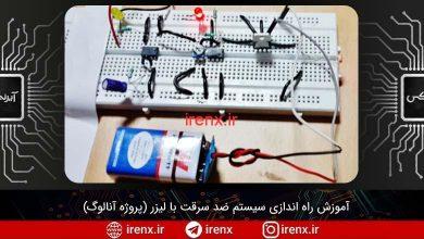 تصویر از آموزش راه اندازی سیستم ضد سرقت با لیزر