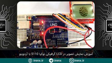 تصویر از نمایش تصویر در LCD گرافیکی نوکیا 5110 با آردوینو