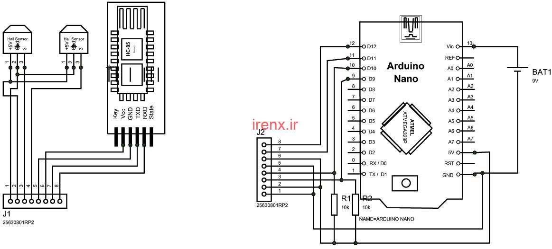 شماتیک پروژه واقعیت مجازی با Arduino