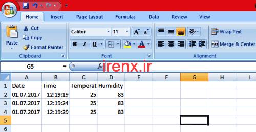 باز کردن اطلاعات کارت حافظه در Excel