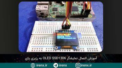 تصویر از آموزش اتصال نمایشگر OLED SSD1306 به رزبری پای
