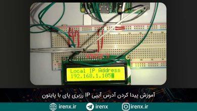 تصویر از آموزش پیدا کردن آدرس آیپی IP رزبری پای با پایتون