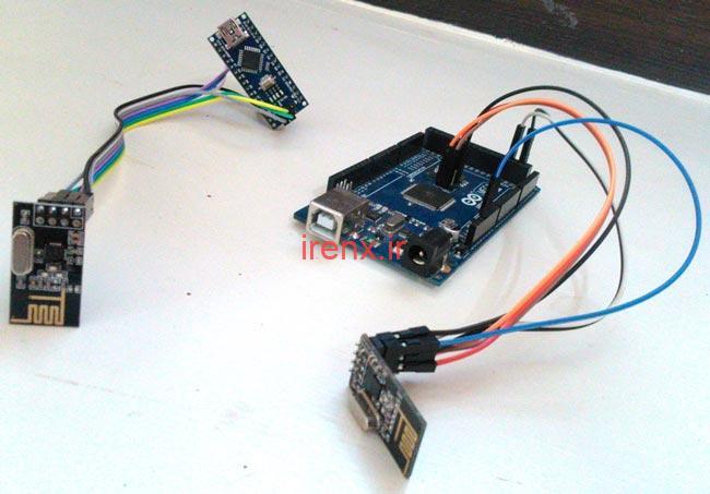ارسال پیام با ماژول رادیویی بین با Arduino و Processing