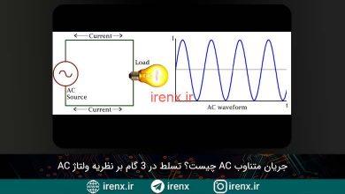 تصویر از جریان متناوب AC چیست؟ آموزش کامل ولتاژ AC متناوب
