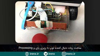 تصویر از ساخت ربات دنبال کننده توپ با رزبری پای و Processing