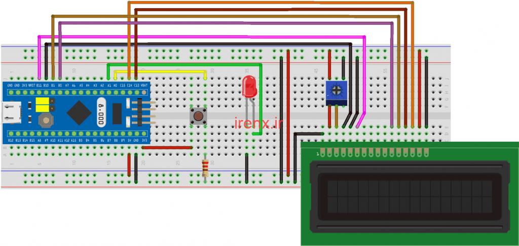پروژه راه اندازی وقفه در میکروکنترلر STM32