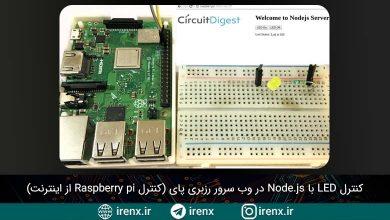 تصویر از کنترل LED با Node.js در وب سرور رزبری پای