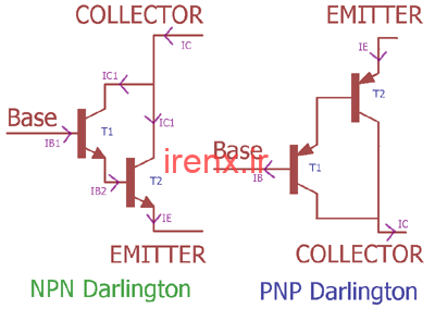 محاسبه بهره ی جریان ترانزیستور دارلینگتون