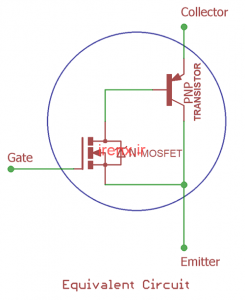 مدار و نماد معادل IGBT