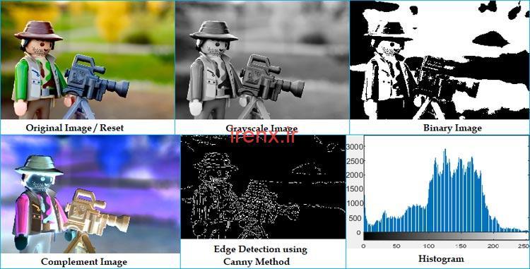 نتیجه پردازش عکس در نرم افزار متلب