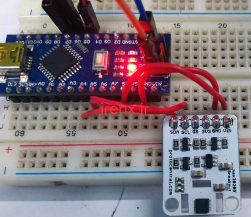 ارتباط آردوینو با سنسور دمای بدن MAX30205