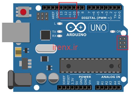 پین های SPI در Arduino