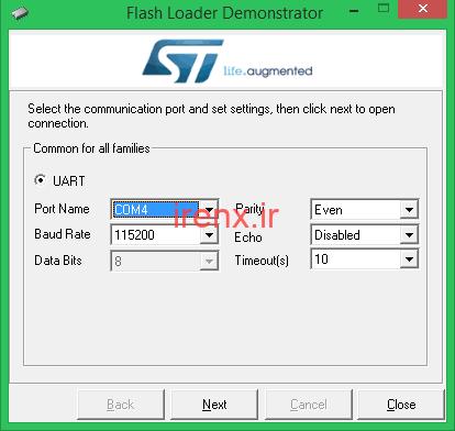 نصب بوت لودر Maple Boot روی برد STM32