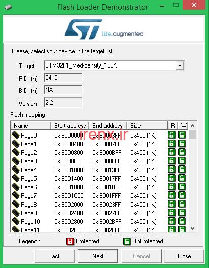 آموزش نرم افزار لودر STM Flash