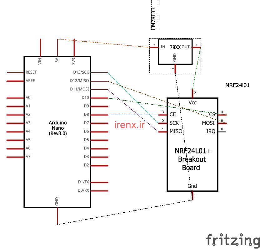 آردوینو نانو با nRF24L01