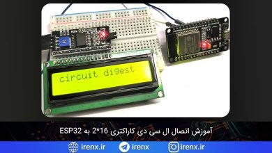 تصویر از آموزش اتصال ال سی دی کاراکتری 16*2 به ESP32
