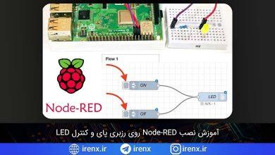 تصویر از آموزش نصب و کار با Node-RED در رزبری پای و کنترل LED