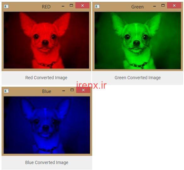 تبدیل عکس به مولفه فردی RGB
