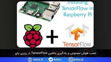 تصویر از اجرای هوش مصنوعی و یادگیری ماشین TensorFlow در رزبری پای