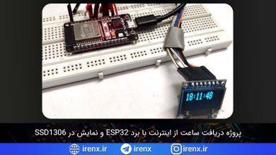 تصویر از پروژه دریافت ساعت از اینترنت با برد ESP32 و NTP