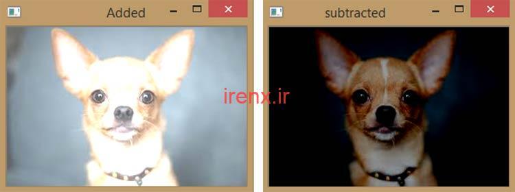 عملیات Arithmetic برای روشن تر و تاریک شدن تصاویر