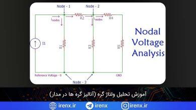 تصویر از آموزش تحلیل گره در مدار (تحلیل ولتاژ گره)