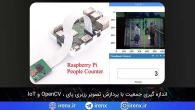 تصویر از اندازه گیری جمعیت با پردازش تصویر رزبری پای و OpenCV