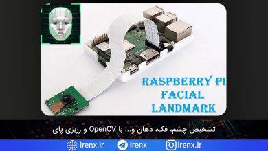 تصویر از تشخیص چشم، فک، دهان با رزبری پای و OpenCV