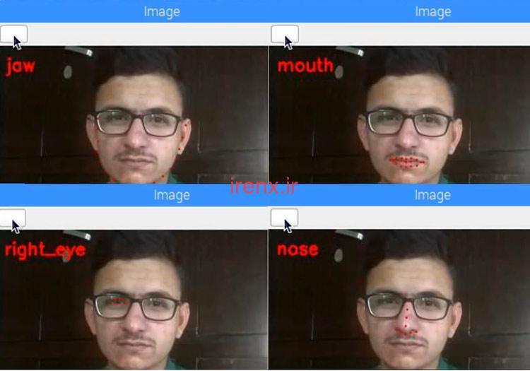 تشخیص اجزای چهره با رزبری پای