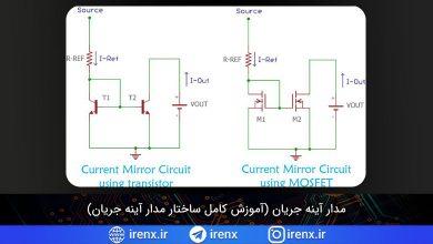 تصویر از مدار آینه جریان (آموزش کامل ساختار مدار آینه جریان)