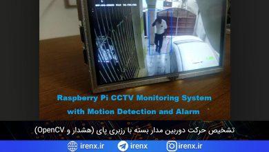 تصویر از تشخیص حرکت دوربین مدار بسته با رزبری پای (هشدار و OpenCV)