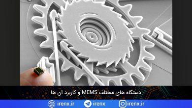 تصویر از دستگاه های مختلف MEMS و کاربرد آن ها