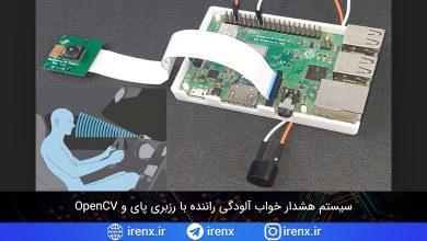 تصویر از سیستم هشدار خواب آلودگی راننده با رزبری پای و OpenCV